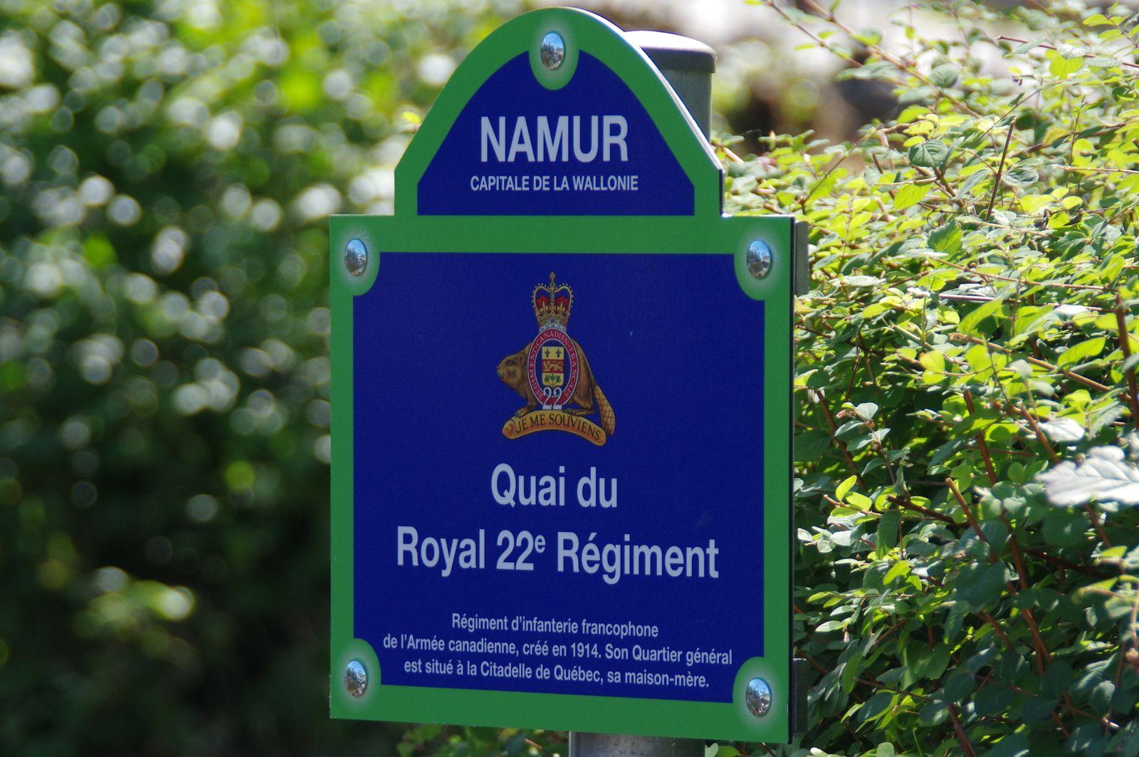 Québec - Quai du R22R à Namur